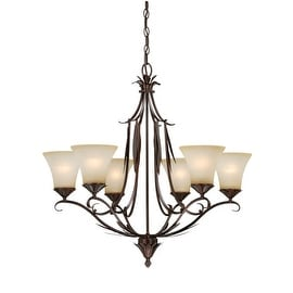 Vaxcel Lighting H0076 Coricelli 6 Light Single Tier Chandelier with Glass Shades - 29.25 Inches Wide