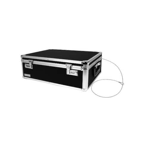 Vaultz r vz00323 locking storage chest black