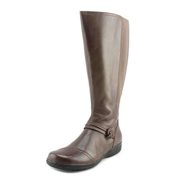Clarks Narrative Cheyn Whisk Wide Calf Women Leather Brown Knee High Boot