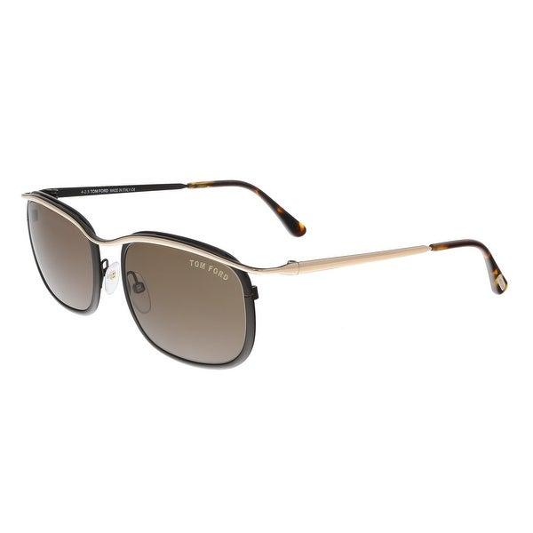 Tom Ford FT0419 50J MARCELLO Brown Rectangle Sunglasses - 53-19-140