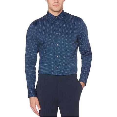 Perry Ellis Mens Diamond Button Up Shirt
