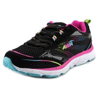 Avia Beauty Youth Round Toe Synthetic Black Running Shoe