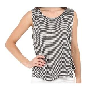 Michael Stars NEW Gray Women's Size Large L Tank Cami Striped Top