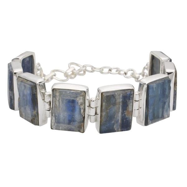 Women's Kyanite Sterling Silver Link Bracelet