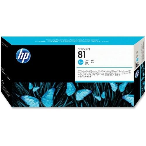 HP 81 Cyan DesignJet Dye Printhead and Printhead Cleaner (C4951A) (Single Pack)