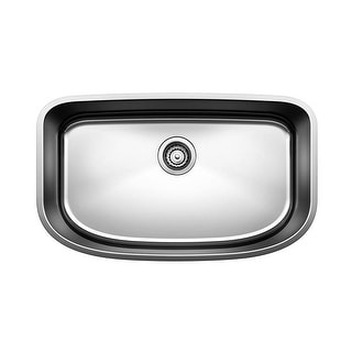 "Blanco 441586  28-1/2"" Super Single Bowl Undermount Stainless Steel Kitchen Sink from the One Series - Satin Polished"