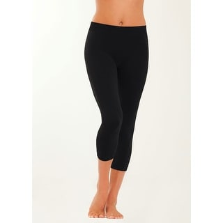 Jenni by Jennifer Moore Women's Capri Leggings 913418B246 - Black - Medium