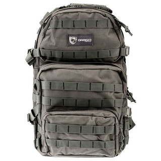 Drago gear 14302gy drago assault backpack gray max cap storage compartments