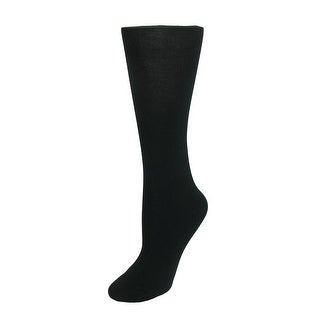 Gold Toe Women's Cotton Knee High Dress Trouser Socks (Pack of 3), Shoe Size 6 - 9 - Black - One Size