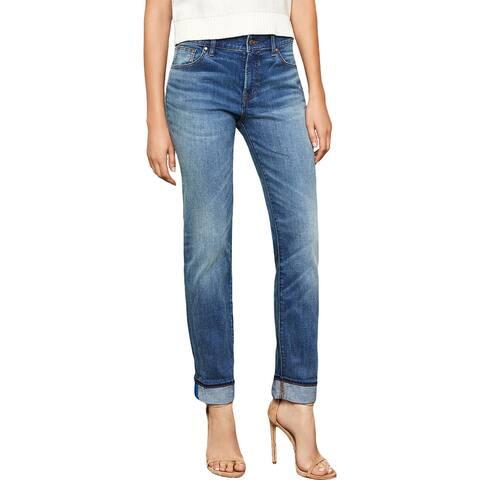 BCBG Max Azria Womens Straight Leg Jeans Denim Mid-Rise