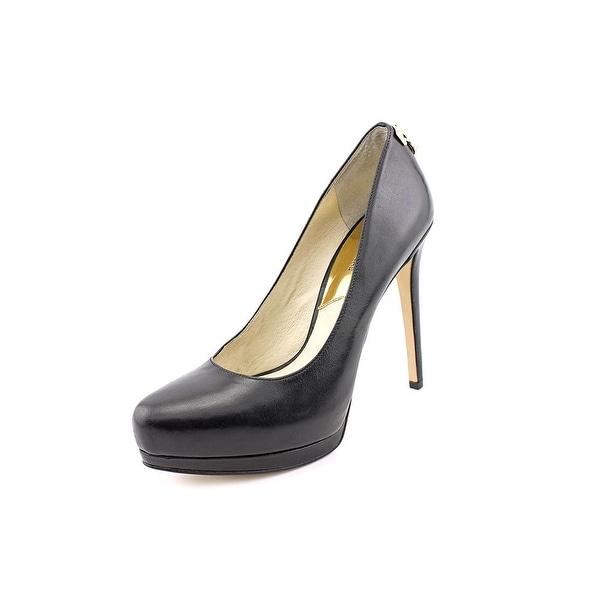 dc5d8b957d9f Michael Michael Kors Hamilton Pump Women Open Toe Leather Black Platform  Heel