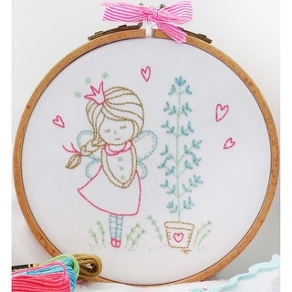 "Shy Fairy Embroidery Kit-8""X8"""
