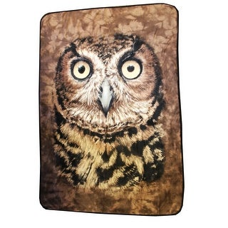 "Owl Face 45""x 60"" Fleece Throw Blanket - Multi"