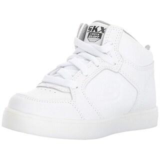 Skechers Kids Boys' Energy Lights Sneaker,10 M Us Toddler,White