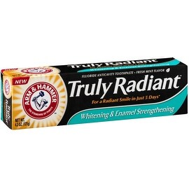 ARM & HAMMER Truly Radiant Whitening & Enamel Strengthening Fluoride toothpaste, Fresh Mint, 4.3 oz