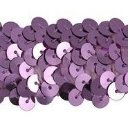 """Lilac - 3 Row Stretch Sequin Trim 1-1/4""""X10yd"""