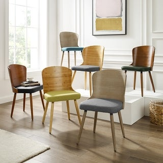 Link to Corvus Calvados Mid-century Modern Dining Chairs (Set of 2) Similar Items in Dining Room & Bar Furniture