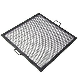 Sunnydaze X-Marks Square Fire Pit Cooking Grill, Sunnydaze X-Marks Square Fire P