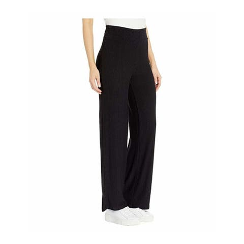 BB Dakota Women's On The Boardwalk French Terry Wide Leg Pants, Black, Medium