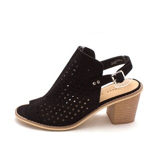 Chinese Laundry Womens Christabel Peep Toe Ankle Strap Mules