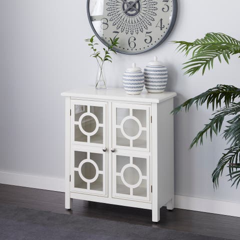 White Wood Traditional Cabinet 33 x 30 x 14 - 30 x 14 x 33