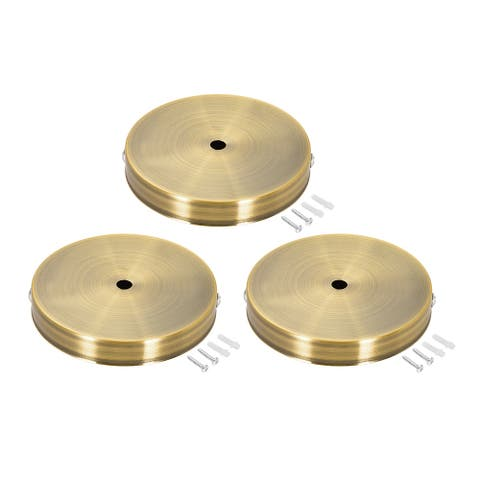 Retro Light Canopy Kit Wall Sconce Lamp Plate Fixture 120mm Gold Bronze 3Pcs