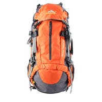 Unique Bargains HWJIANFENG Authorized Outdoor Trekking Pack Sport Bag Hiking Backpack Orange 50L