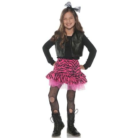 Underwraps 80'S Zebra Rocker Child Costume - Black/Pink