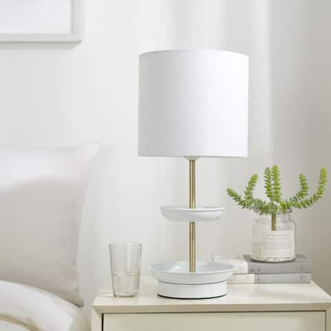 College Caravan Two Tier Catch-all Table Lamp