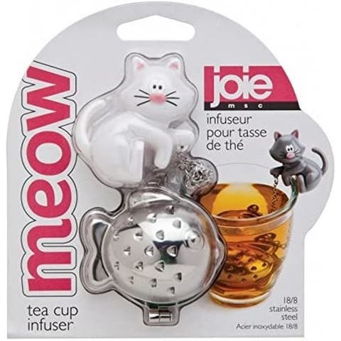 Joie Meow Cat-Themed Loose Leaf Tea Cup 18/8 Stainless Infuser