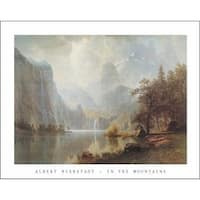 ''In the Mountains'' by Albert Bierstadt Huntington Graphics Art Print (22 x 28 in.)