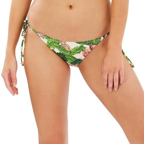 Somedays Lovin Womens Ayana Floral Bandeau Bikini Top XS