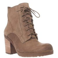 Lucky Brand Orsander Heeled Combat Boots, Sesame