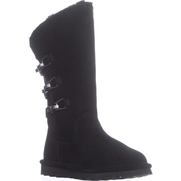 Bearpaw Jenna Mid-Calf Wool Lined Boots, Black - 5 us / 36 eu