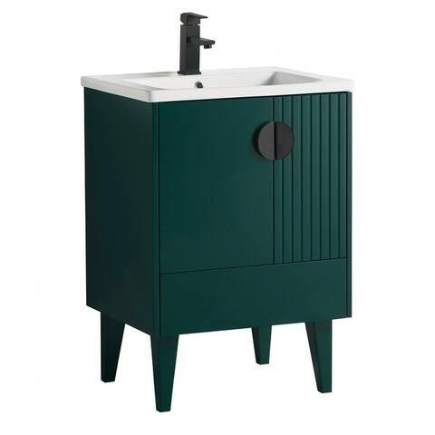 Venezian Single Bathroom Vanity with Sink