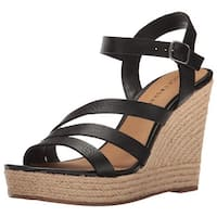 Lucky Brand Womens Latif Leather Open Toe Casual Platform Sandals