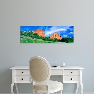 Easy Art Prints Panoramic Images's 'South Gateway Rock, Garden of the Gods, Colorado Springs, Colorado' Canvas Art