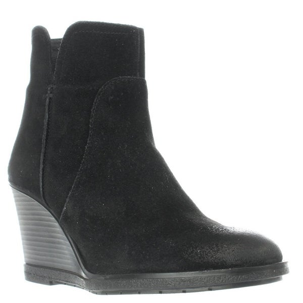 Kenneth Cole REACTION Dot-ation Wedge Ankle Boots, Black