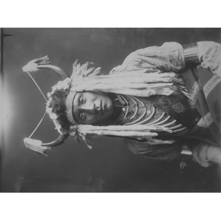 Head Carry Native American Indian Man - (Edward Curtis c. 1900) - Vintage Photograph (Acrylic Serving Tray)