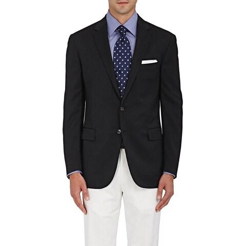 Ralph Lauren Black Label Slim Fit Black Wool Sportcoat Blazer 44 Long 44L Italy