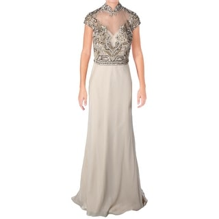Link to Terani Couture Chiffon Embellished Formal Dress Similar Items in Dresses
