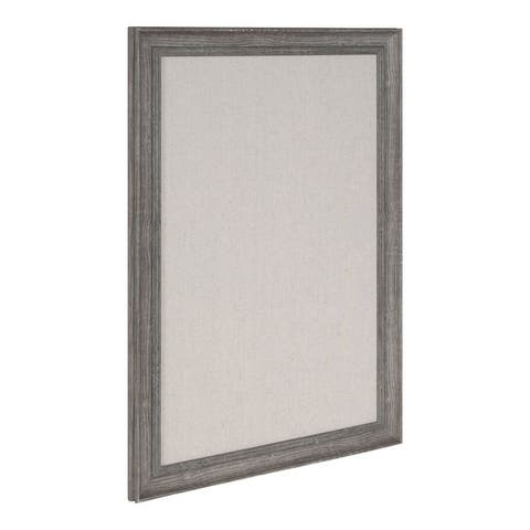DesignOvation Macon Framed Linen Fabric Pinboard