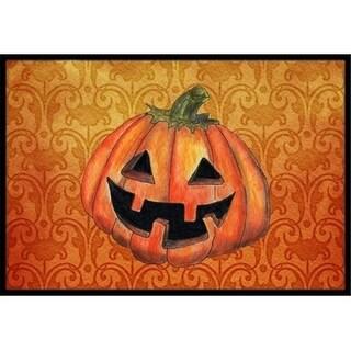 Carolines Treasures SB3020MAT 18 x 27 in. October Pumpkin Halloween Indoor Or Outdoor Mat