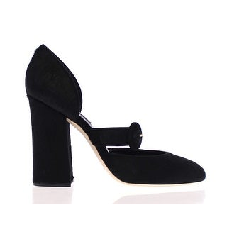 Dolce & Gabbana Black Pony Fur Leather Mary Janes Shoes - 35