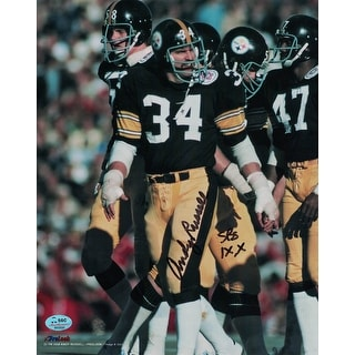 Andy Russell Autographed Pittsburgh Steelers 8x10 Photo SB IX X SGC
