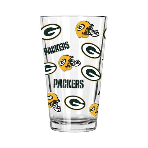 Green Bay Packers All Over Print 16oz Pint Glass
