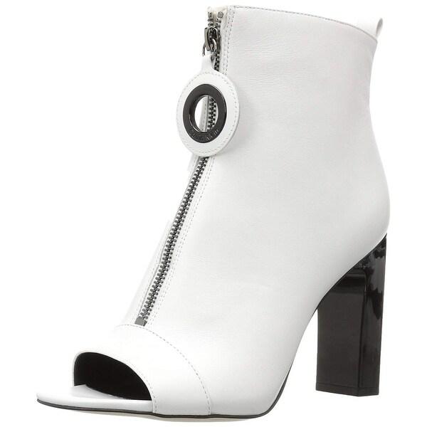 fddcf6ad3 Shop Calvin Klein Womens Minda Leather Peep Toe Ankle Fashion Boots ...