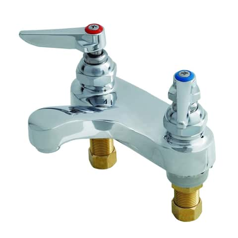 """T and S Brass B-0871 Deck Mounted Lavatory Faucet with 4"""" Centers, 2.2 - Chrome"""