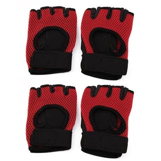 Sports Fitness Rubber Nonslip Adjustable Gloves Hand Palm Support 2 Pairs
