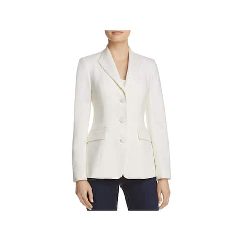 Theory Womens Riding Three-Button Blazer Wool Tuxedo